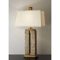 Feiss Justice 1 Light Table Lamp in Crackled Cream 10044CCM alternative photo thumbnail