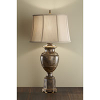 Feiss Amaya 1 Light Table Lamp in Antique Silver Leaf and Mottled Nero 10074ASL/MNO