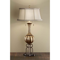 Feiss Amaya 2 Light Table Lamp in Antique Silver Leaf and British Bronze 10077ASL/BRB alternative photo thumbnail