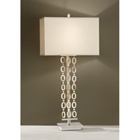 Feiss Independents 1 Light Table Lamp in Brushed Nickel and Natural Shell Strands 10089BN/NS alternative photo thumbnail