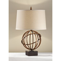 Feiss Spencer 1 Light Table Lamp in Firenze Gold and Dark Walnut Base 10102FG/DWB