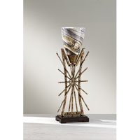 Feiss Atticus 1 Light Table Lamp in Poly Chrome Iron and Ebony 10119PCI/EBY