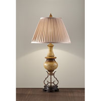 Feiss Marisol 1 Light Table Lamp in Ivory Crackle and Dark Walnut Base 10134IC/DWB alternative photo thumbnail