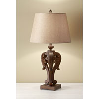 Feiss Fleuron 1 Light Table Lamp in Dark Aged Wood 10146DAW