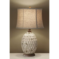 Feiss Antica Ceramica 1 Light Table Lamp in Antique White and Bronze 10149AWT/BZ