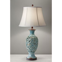 Feiss Antica Ceramica 1 Light Table Lamp in Persian Turquoise 10156PER
