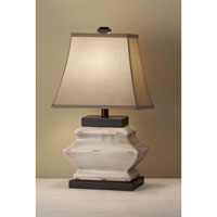 Feiss Antica Ceramica 1 Light Table Lamp in Ivory Crackle 10159IC