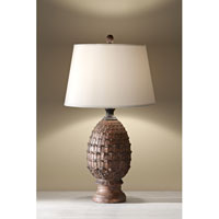 Feiss Antica Ceramica 1 Light Table Lamp in Dappled Brown 10160DBR