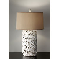 Feiss Garden Relic 1 Light Table Lamp in White and Taupe 10161WT/TP