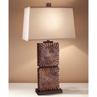Feiss Abbeyville 1 Light Table Lamp in Woodland Brown 10180WDB