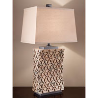 Feiss Surrey 1 Light Table Lamp in Pebble 10181PBL