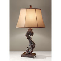 Feiss Heathcote 1 Light Table Lamp in Dark Roast 10182DRR alternative photo thumbnail