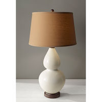 Feiss Seely 1 Light Table Lamp in White Ceramic and Oil Rubbed Bronze 10184WC/ORB