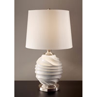 Feiss Softserve 1 Light Table Lamp in Vanilla and Brushed Steel 10188VNL/BS