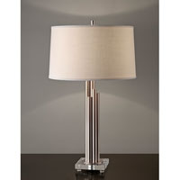 Feiss Dorset 1 Light Table Lamp in Brushed Steel 10193BS