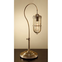 Feiss Urban Renewal 1 Light Table Lamp in Dark Antique Brass 10195DAB