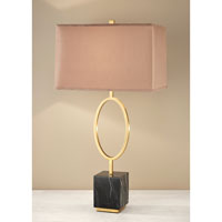 Feiss Signature 1 Light Table Lamp in Dark Coffee Bronze and Black Marble 10201DCB/BKM