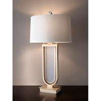 Feiss Harlowe 1 Light Table Lamp in Metallic Moondust 10202MND