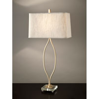 Feiss Signature 1 Light Table Lamp in Metallic Moondust and Champagne Finish 10203MND