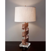 Feiss Helix 1 Light Table Lamp in British Bronze 10204BRB