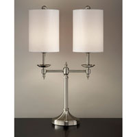 Feiss Signature 2 Light Table Lamp in Brushed Nickel 10209BN