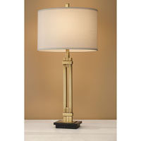 Feiss Signature 1 Light Table Lamp in Antique Brass with Black Marble 10210AB/BM