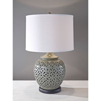 Feiss Trellis 1 Light Table Lamp in High Gloss Grey 10219HGG