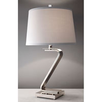 Feiss Signature 1 Light Table Lamp in Polished Nickel 10221PN