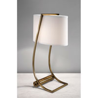 Feiss Lex 1 Light Table Lamp in Bali Brass 10223BLB