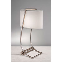 Feiss Lex 1 Light Table Lamp in Brushed Steel 10223BS