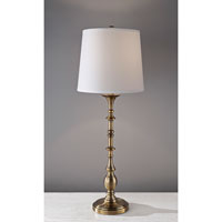 Feiss Signature 1 Light Table Lamp in Bali Brass 10224BLB