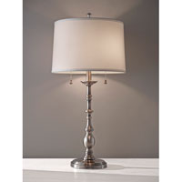 Feiss Signature 2 Light Table Lamp in Antique Nickel 10225ANL