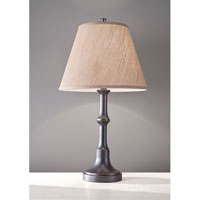 Feiss Signature 1 Light Table Lamp in Grey Shadow with Hilight 10226GSH