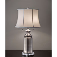 Feiss Stateroom 2 Light Table Lamp in Antique Nickel 10229ANL