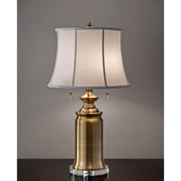 Feiss Stateroom 2 Light Table Lamp in Bali Brass 10229BLB