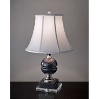 Feiss Signature 1 Light Table Lamp in Black Marble and Polished Nickel 10234BM/PN
