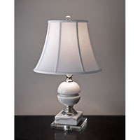 Feiss Signature 1 Light Table Lamp in White Marble and Polished Nickel 10234WM/PN
