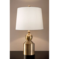 Feiss Signature 1 Light Table Lamp in Bali Brass 10237BLB