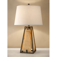 Feiss Modern Prairie 1 Light Table Lamp in Century Iron and Onyx 10240CNI/OX