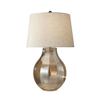 Feiss Signature 1 Light Table Lamp in Polished Nickel Champagne Glass 10255PN/CPG