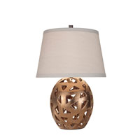 Feiss Geometrica 1 Light Table Lamp in Aged Copper with Crackle 10271AC/CK