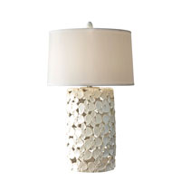 Feiss Signature 1 Light Table Lamp in White Taupe Ceramic 10296WTPC