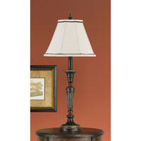 Feiss Chandler Library 1 Light Buffet Lamp in Rubbed Wood 9476RW