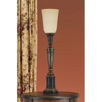 Feiss Chandler Library 1 Light Table Lamp in Rubbed Wood 9477RW