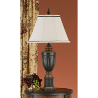 Feiss Chandler Library 1 Light Table Lamp in Rubbed Wood 9478RW alternative photo thumbnail