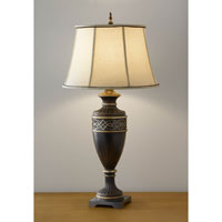 Feiss Bismarck 1 Light Table Lamp in Tudor Brown 9863TBR alternative photo thumbnail
