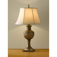 Feiss Park Ridge 1 Light Table Lamp in Silver Leaf Sienna 9876SLS
