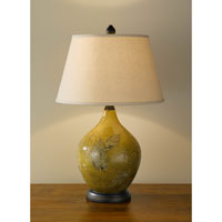 Feiss Hand Painted Porcelain 1 Light Table Lamp in Sundance Leaf and Bronze 9921SDLB