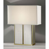 Feiss Sloane 1 Light Table Lamp in Polished Brass and Brushed Steel 9965PB/BS