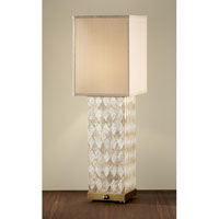 Feiss Nevena 2 Light Table Lamp in Harlequin Pattern Natural Shell and Dark Coffee Bronze 9971HNS/DCB alternative photo thumbnail
